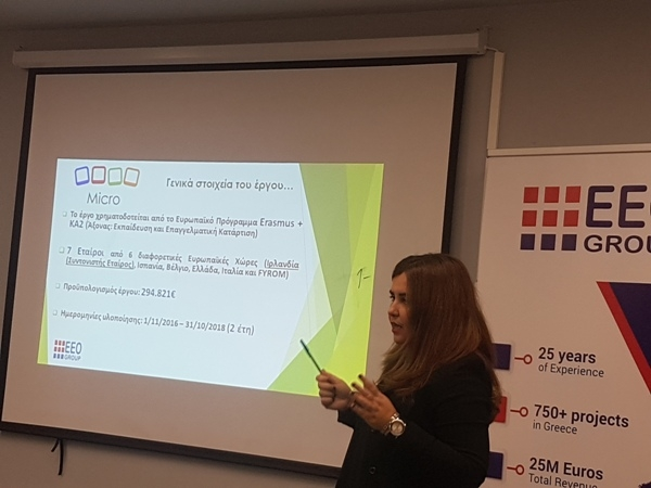 EEO Group S.A organized the Multiplier Event in Greece about the MICRO Project